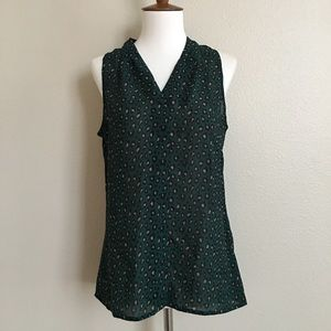 Banana Republic Green Cheetah Tank